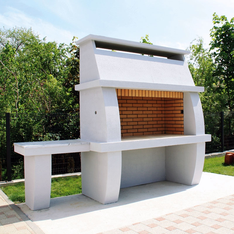 Elegance 1500, glat beton + stol