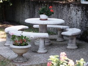 Barokni stol + 4 klupe 169BP